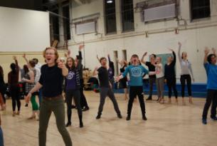 Musical Theater students rehearsing